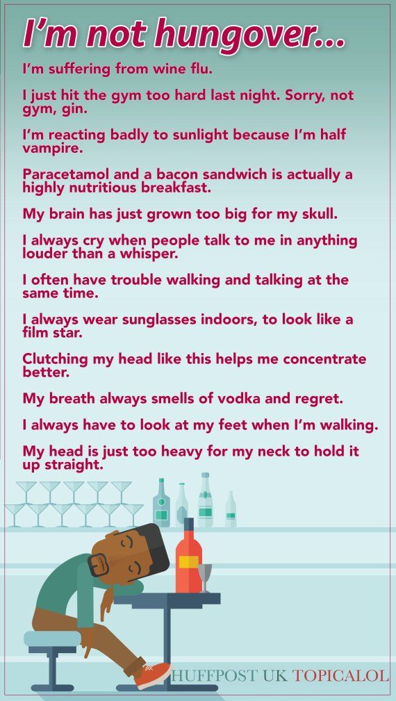 hangover excuses