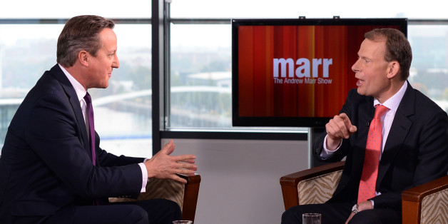 Prime Minister David Cameron is interviewed by Andrew Marr. The only Cabinet ministers to appear on Sunday politics shows in the last month were on Marr