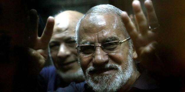 Mohamed Badie, chef des Frères musulmans, le 8 mai 2014 au Caire