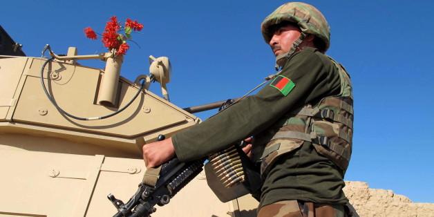 Ein Soldat der afghanischen Regierungstruppen in Helmand
