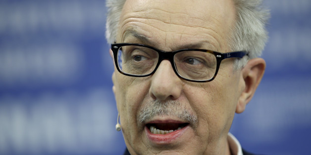 Dieter Kosslick director of the International Film Festival Berlin, the Berlinale, speaks during the annual program press conference in Berlin, Germany, Tuesday, Jan. 27, 2015. The 65. Berlinale will take place in the German capital from Thursday, Feb. 5, until Sunday, Feb. 15, 2015.(AP Photo/Michael Sohn)