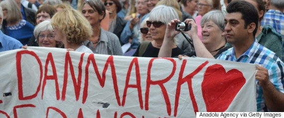 protest refugees copenhagen