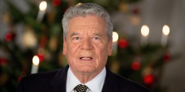 Bundespräsident Joachim Gauck während seiner Weihnachtsansprache