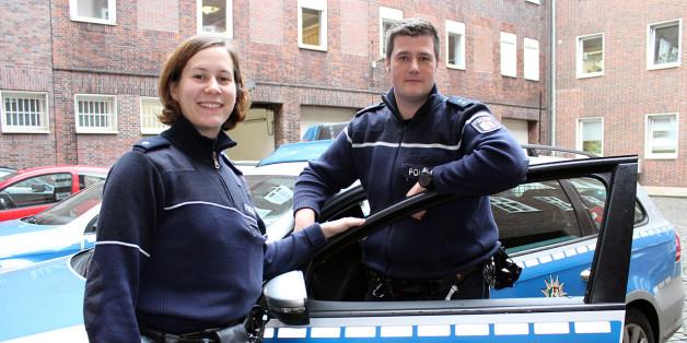 Polizeikommissarin Lena-Kristin Bincyk und Polizeioberkommissar Marcel Banning