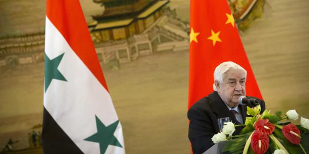 Le ministre syrien des Affaires étrangères Walid Mouallem le 24 décembre 2015 à Pékin