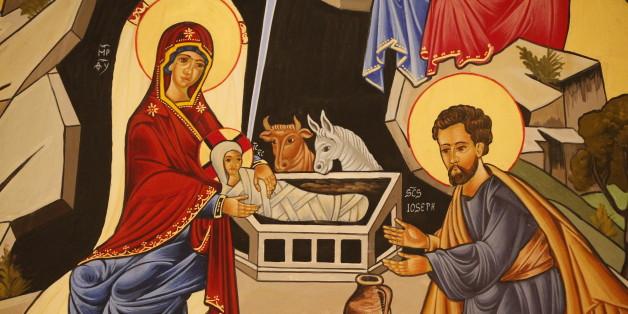 Christmas crib, The nativity. (Photo by: Godong/UIG via Getty Images)