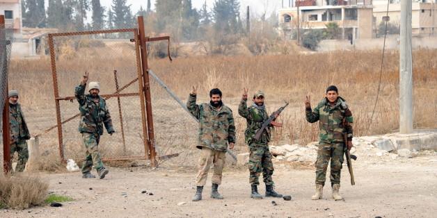 Die Syrisch-Arabische Armee in Damaskus