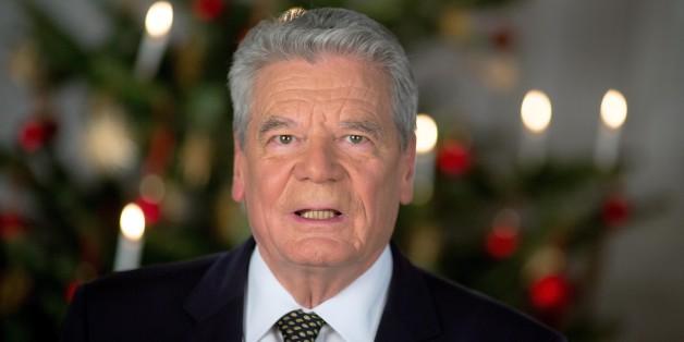 Bundespräsident Joachim Gauck bei seiner Weihnachtsansprache