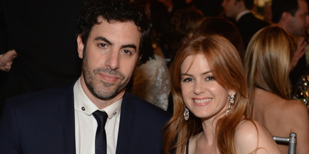 HOLLYWOOD, CA - JUNE 06: Actors Sacha Baron Cohen and Isla Fisher attend 41st AFI Life Achievement Award Honoring Mel Brooks at Dolby Theatre on June 6, 2013 in Hollywood, California. Special Broadcast will air Saturday, June 15 at 9:00 P.M. ET/PT on TNT and Wednesday, July 24 on TCM as part of an All-Night Tribute to Brooks.  (Photo by Michael Kovac/WireImage)