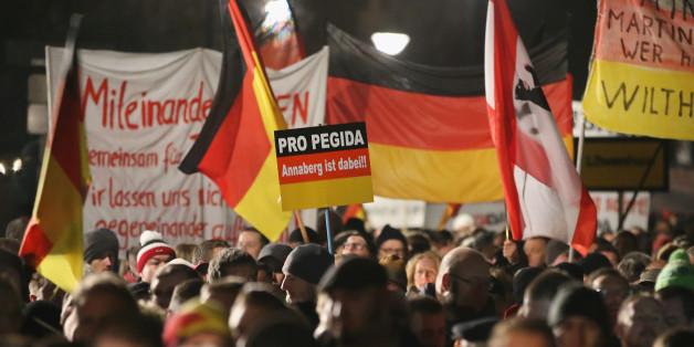 Eine Pegida-Demonstration in Dresden