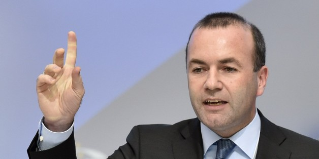 German European People's Party (EPP) chairman Manfred Weber delivers a speech during the European People's Party Statuary Congress in Madrid on October 22, 2015. The EPP congress, which groups conservative parties from across the EU, is expected to adopt a four-page resolution tonight that calls for improvements in the reception of migrants but also demands the strengthening of the EU's external borders. AFP PHOTO/ GERARD JULIEN        (Photo credit should read GERARD JULIEN/AFP/Getty Images)