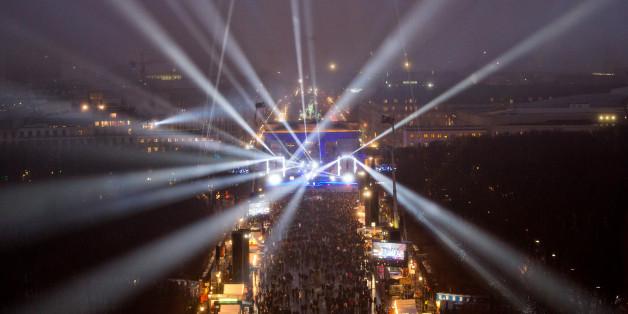 Die Silvesterparty am Brandenburger Tor im Jahr 2014