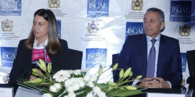 Nada Biaz, DG du groupe ISCAE, et Moulay Habid Elalamy, ministre de l'Industrie