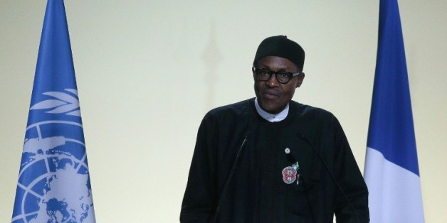 Le président nigérian Muhammadu Buhari, au Bourget, près de Paris, pour la COP21, le 30 novembre 2015