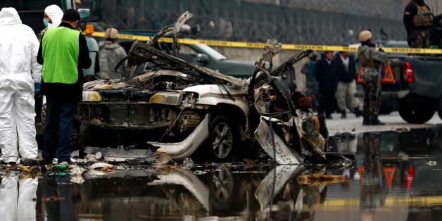 Der Attentäter sprengte sich mit seinem Auto in die Luft.