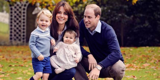 Prinz William mit seiner Frau Kate und seinen Kindern George und Charlotte