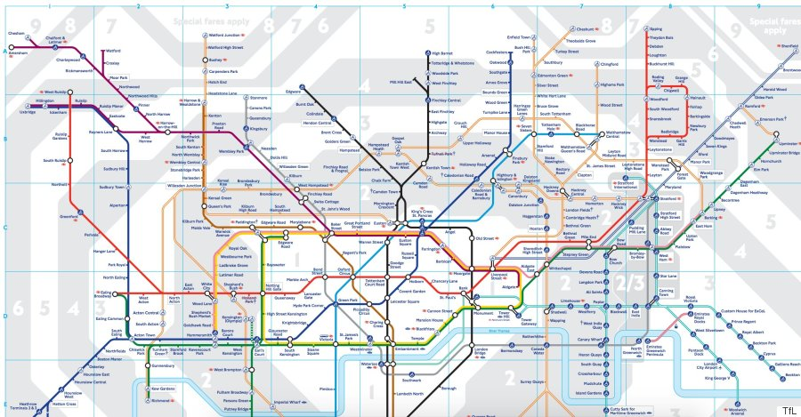 London Underground 2016 Tube Map Shows New Zones For Stratford