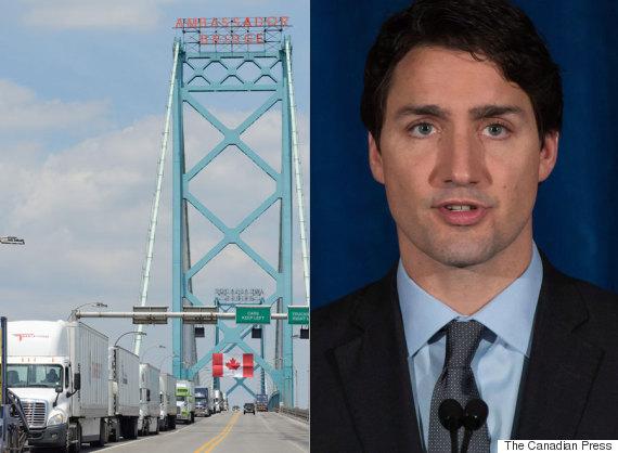 ambassador bridge justin trudeau