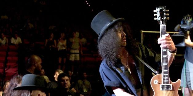 Le guitariste des Guns N' Roses, Slash, le 14 septembre 2000 à Las Vegas.