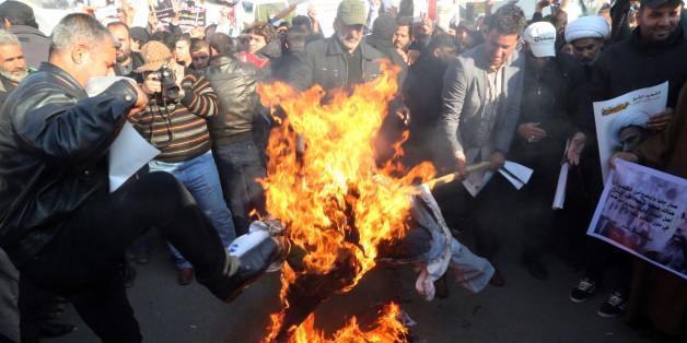 Eine schiitische Demonstrantin in Saudi-Arabien