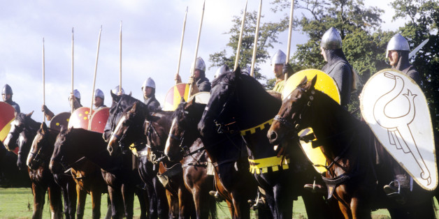 Mounted Norman Knights, Cavalry, Battle of Hastings Historical historical re enactment, war horses