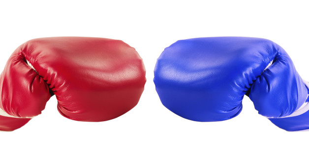boxing gloves isolated on the white background.