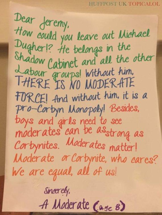 michael dugher jeremy corbyn letter
