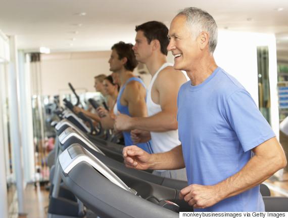 old men exercising