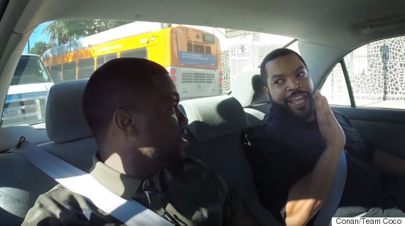 kevin hart ice cube car back seat conan o brien