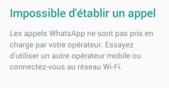 whatsapp bloqué