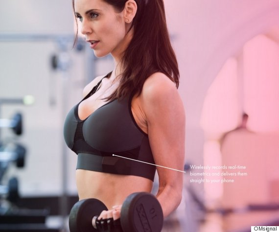 OMsignal's Sports Bra Sends Fitness Feedback Instantly From Your Boobs To Your Phone