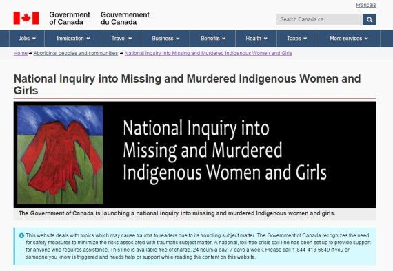 trigger warning indigenous affairs