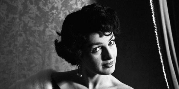 Portrait of Italian actress Silvana Pampanini wearing an elegant dress. 1950s. (Photo by Mondadori Portfolio via Getty Images)