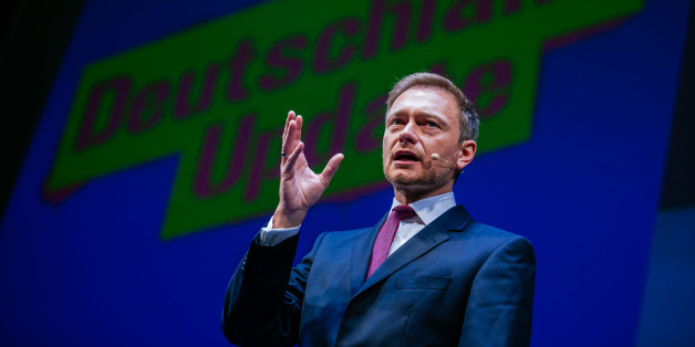 STUTTGART, GERMANY - JANUARY 06:  Christian Lindner, head of the German Free Democratic Party (Freie Demokratische Partei, or FDP) talks during the traditional Epiphany meeting of the German Liberals at the opera on January 6, 2016 in Stuttgart, Germany. The Epiphany conference is the first party meeting of the FDP in the year.  (Photo by Thomas Niedermueller/Getty Images)