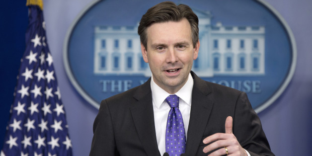 "White House press secretary Josh Earnest speaks during the daily news briefing at the White House in Washington, Thursday, Dec. 17, 2015. Earnest discussed Defense Secretary Ash Carter's use of a personal email account to conduct some government business until ""a few months ago"" and other topics. (AP Photo/Carolyn Kaster)"