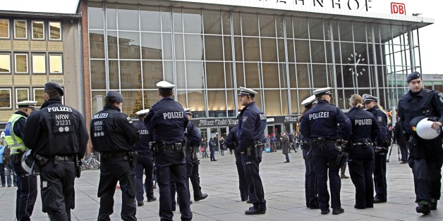 Police officers patrol  in  front of the  main station of Cologne, Germany, on Wednesday, Jan. 6, 2016. More women have come forward alleging they were sexually assaulted and robbed during New Year's celebrations in the German city of Cologne, as police faced mounting criticism for their handling of the incident.   (AP Photo/Hermann J. Knippertz)