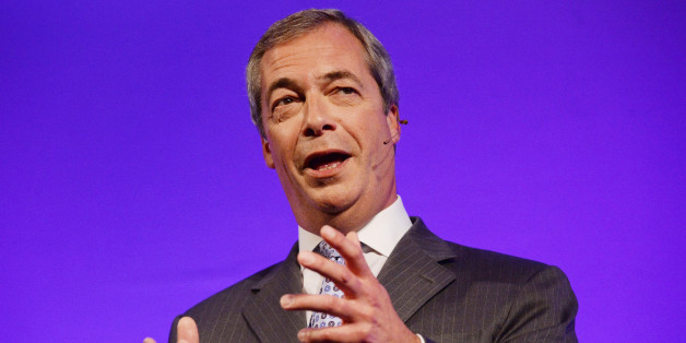 Ukip Party leader Nigel Farage delivers his keynote speech during the UKIP Annual Conference at Doncaster Racecourse.