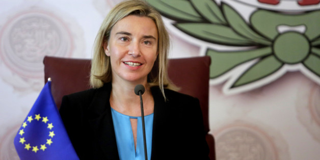 European Union High Representative Federica Mogherini speaks during a press conference following her meeting with Arab League's Secretary-General Nabil Elaraby, at the Arab League headquarters in Cairo, Egypt, Tuesday, Nov. 3, 2015. (AP Photo/Amr Nabil)