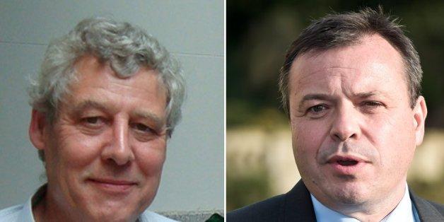 Dr Richard North, left, and Leave.EU's Arron Banks