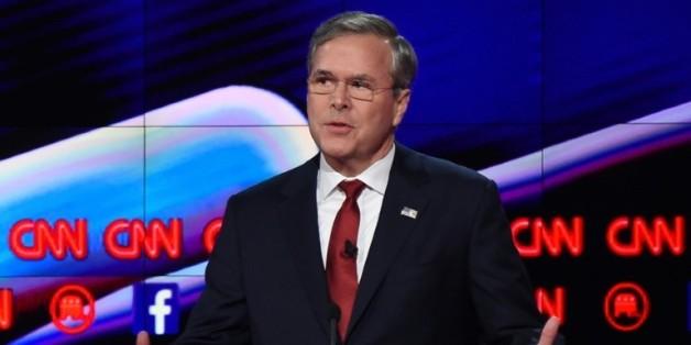 Le candidat à la primaire républicaine, Jeb Bush, à Las Vegas le 15 décembre 2015
