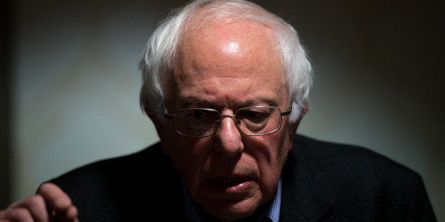 Democratic presidential candidate Sen. Bernie Sanders, I-Vt., holds a press conference after speaking at a veterans forum at the Best Western Regency Inn in Marshalltown, Iowa, Sunday, Jan. 10, 2016. (AP Photo/Andrew Harnik)