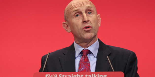 Shadow Housing Minister John Healey speaks during the third day of the Labour Party conference at the Brighton Centre in Brighton, Sussex.