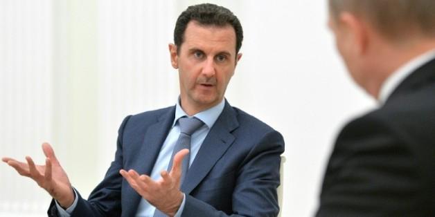 Le président Bachar al-Assad reçu par Vladimir Poutine le 21 octobre 2015 au Kremlin à Moscou