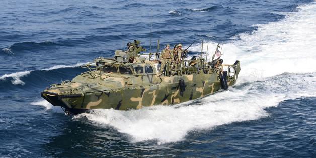 Eine solches Riverine Command Boot ist in iranische Gewässer gedriftet