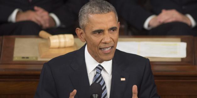 US-Präsident Barack Obama während seiner Rede an die Nation