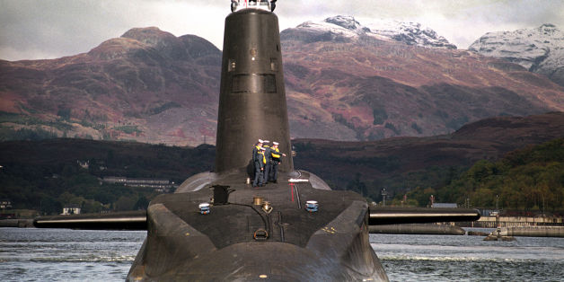 """Embargoed to 0001 Sunday January 3File photo dated 30/01/02 of the Royal Navy's 16,000 ton Trident-class nuclear submarine Vanguard. Costs for the """"immoral and obscene"""" replacement for the Trident nuclear missile submarines have already reached almost £5 billion before Parliament has voted to give the project the final go-ahead, the SNP said."""