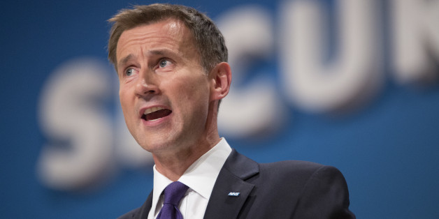 Secretary of State for Health Jeremy Hunt during the Conservative Party Conference 2014, at The ICC Birmingham.