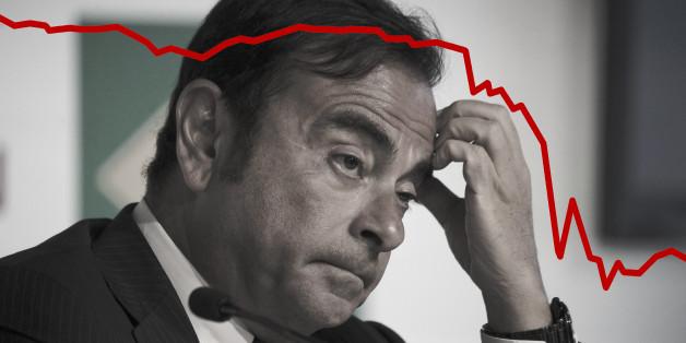 Carlos Ghosn, PDG de Renault, a vu la valeur de son groupe chuter de 20% en une demi heure.
