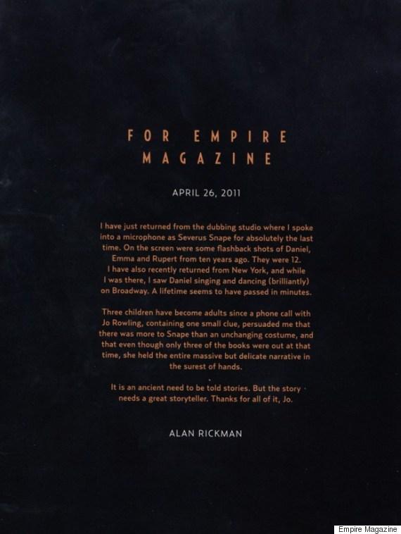 alan rickman farewell