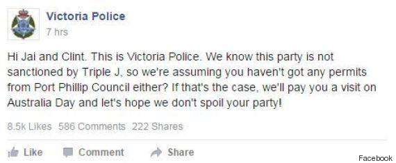 victoria police post